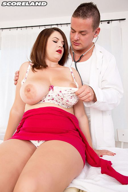 Vicky Soleil's Breast Exam