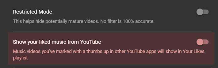 Nu kan YouTube Music dölja gillade låtar från YouTube