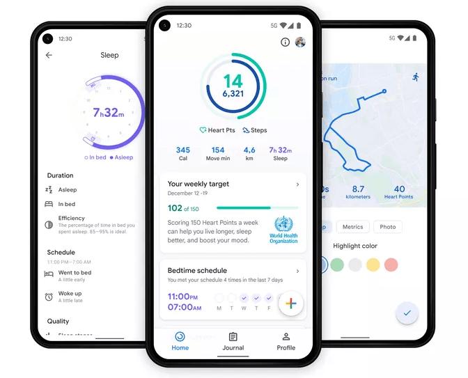 Googles hälsoapp Fit får nytt gränssnitt med bättre översikt