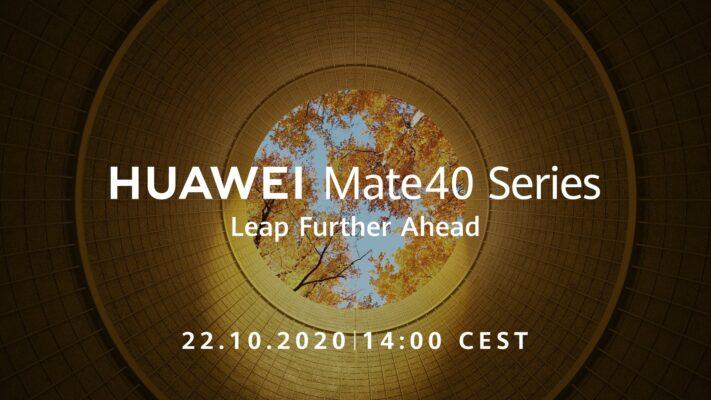 Huawei Mate 40-serien introduceras 22 oktober