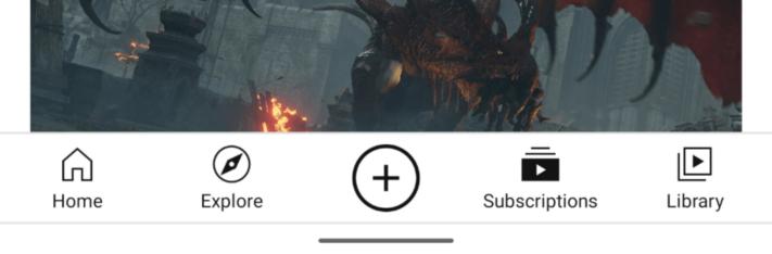 YouTube-appen får nya ikoner i gränssnittet