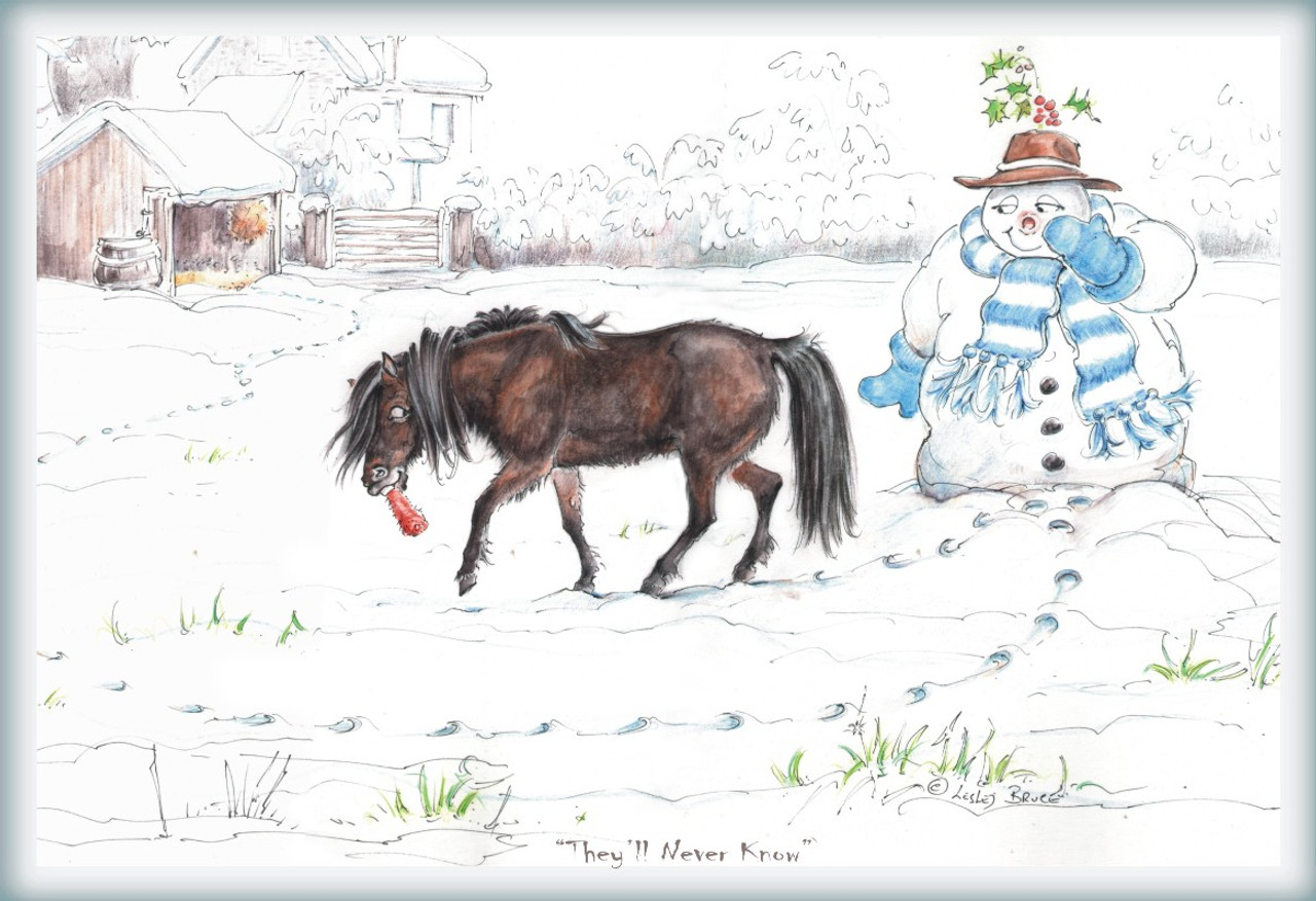 Christmas Horse Cards Theyll Never Know Funny Horse