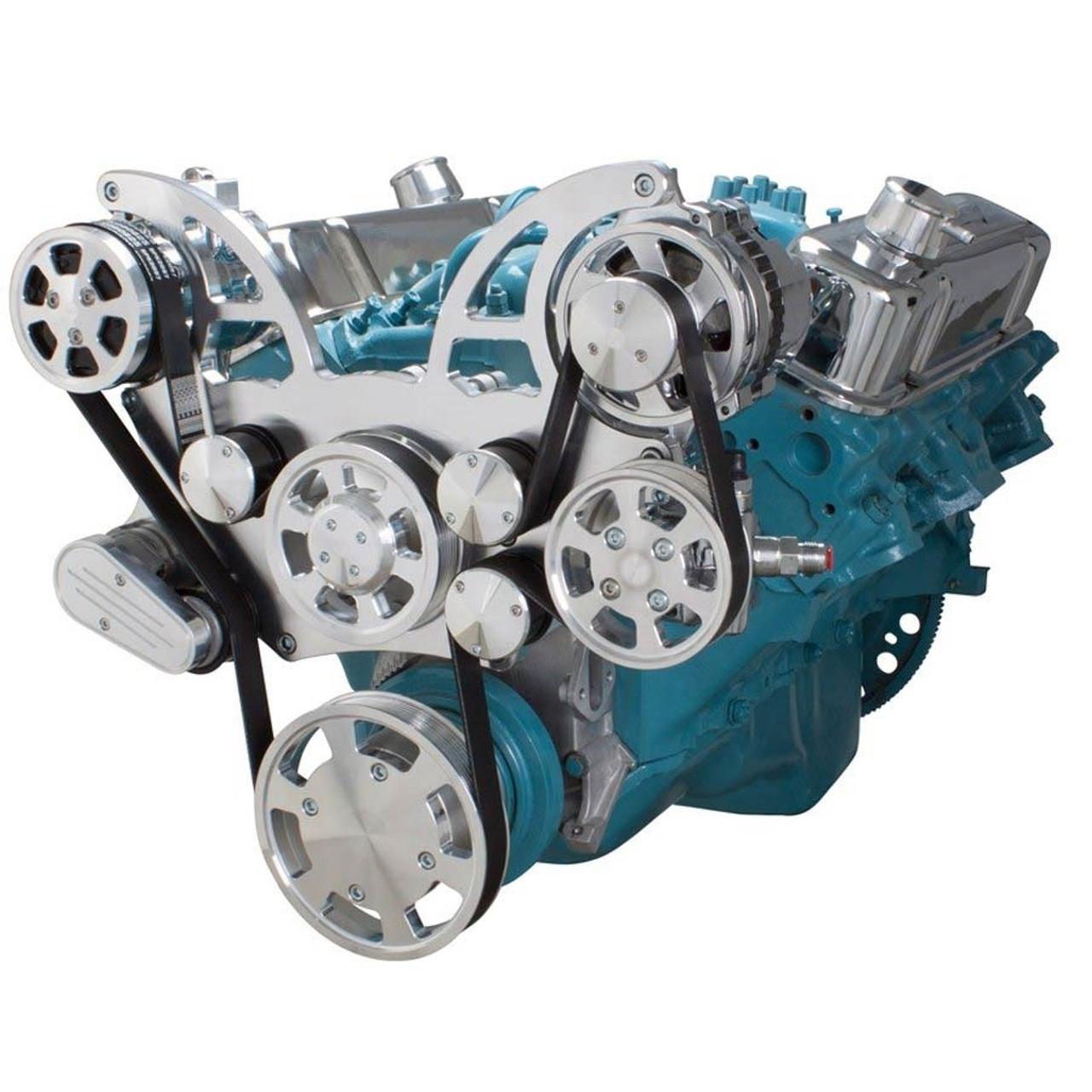 hight resolution of serpentine conversion kit for pontiac 350 400 428 455 v8 engines 2001 lexus is300 engine diagram pontiac 350 engine diagram