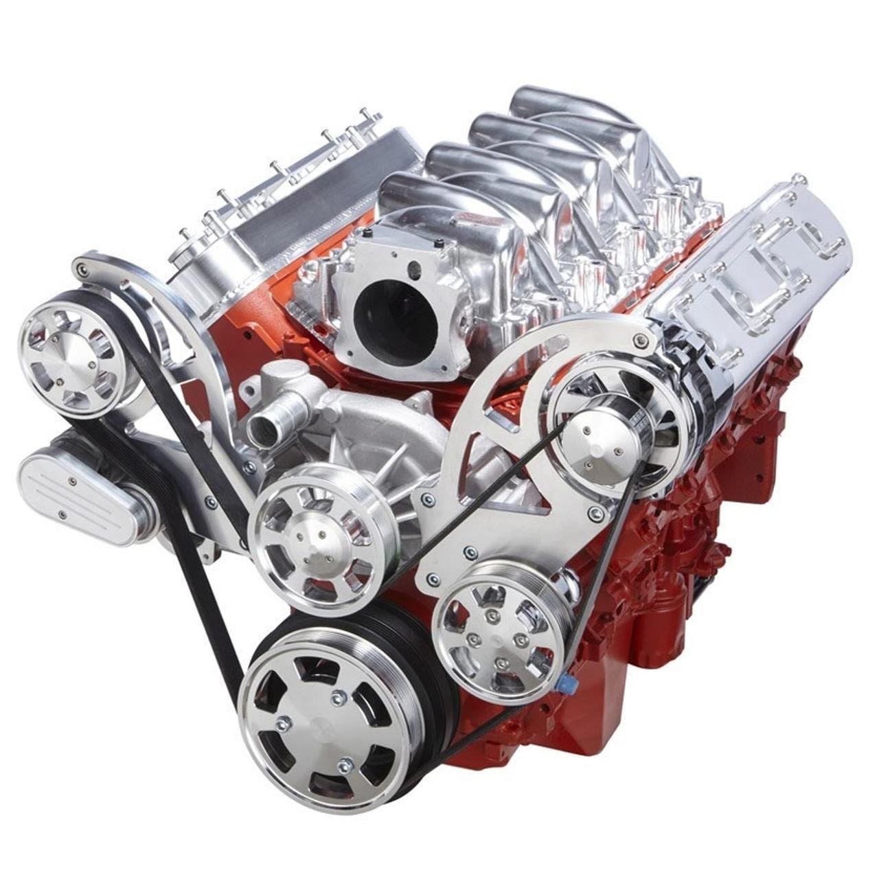 small resolution of chevy ls serpentine kit power steering alternator