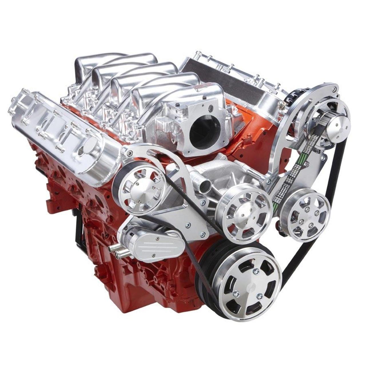 chevy ls serpentine kit power steering alternator [ 900 x 900 Pixel ]