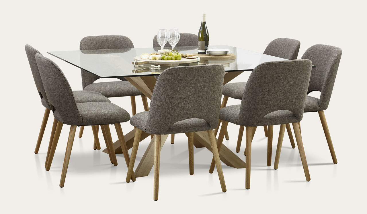 Miles 9 Piece Square Dining Tables And Chairs