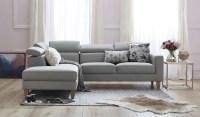 Brando leather corner chaise - Focus on Furniture