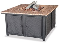 Blue Rhino Uniflame LP Propane Gas Fire Pit Table With ...