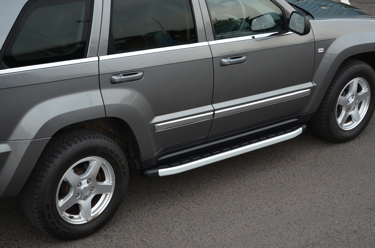 aluminium side steps bars running boards to fit jeep grand cherokee 2005 11  [ 1280 x 848 Pixel ]