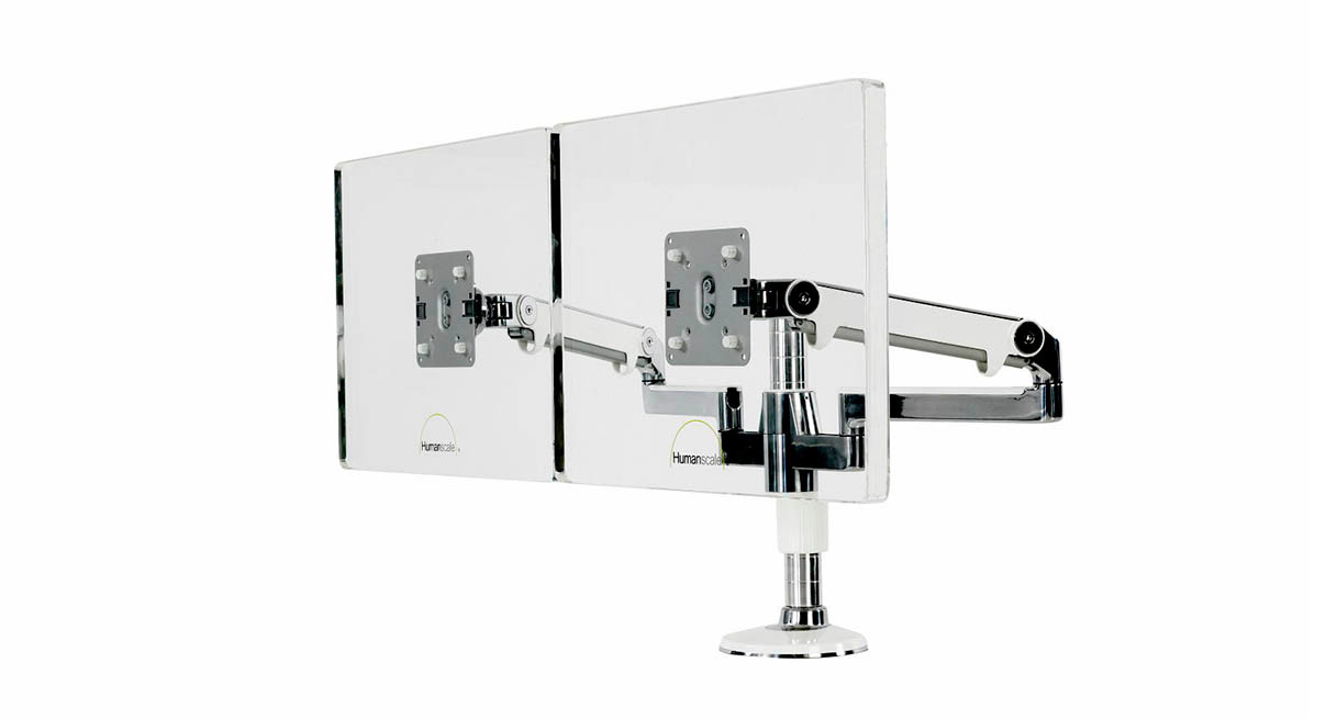 Shop Humanscale MFlex Monitor Arm  Two Monitor Solution