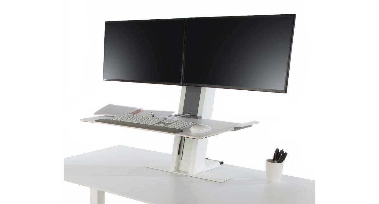 Humanscale QuickStand Adjustable Workstation  Dual Monitor