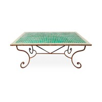Outdoor Mosaic Tile Tables Zellige Morocco Square Round ...