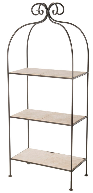 Wrought Iron Display Shelves  Free Standing Shelving Unit