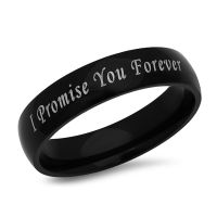 I Promise You Forever Stainless Steel Black Promise Ring ...