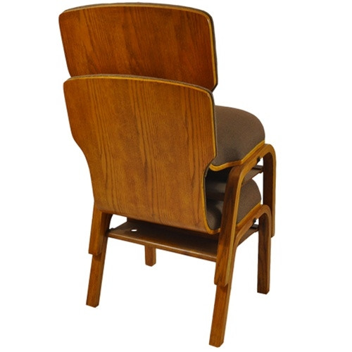 Padded Wood Back Church Chair  Custom Fabrics WPCHT