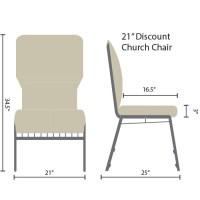 Black Discount Church Chair - 21 in. Wide | Discount ...