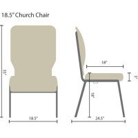 Charcoal Gray Church Chair 18.5 in. Wide [PCHT185-111 ...