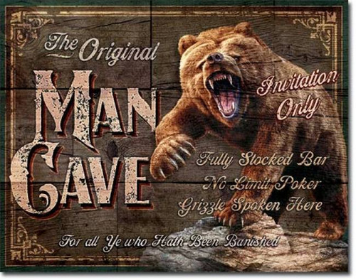 The Original Man Cave Tin Sign