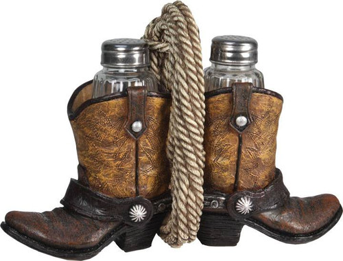 Salt  Pepper Shaker  Boots and Rope