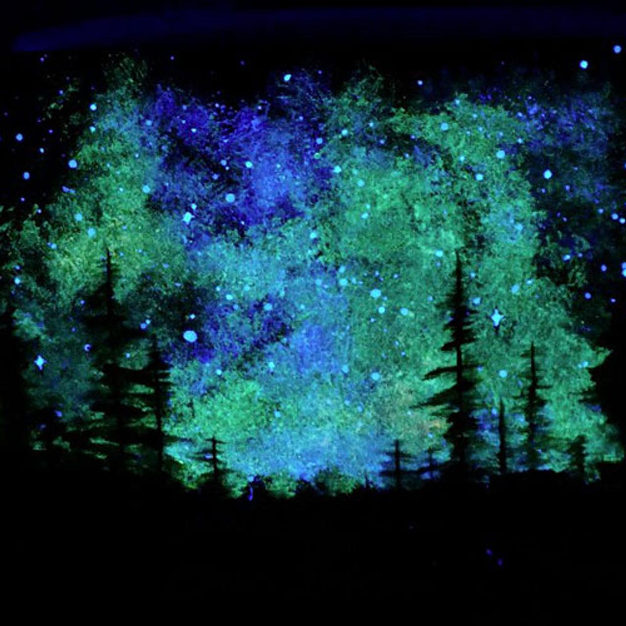 Blue Glow In Dark Paint Brightest