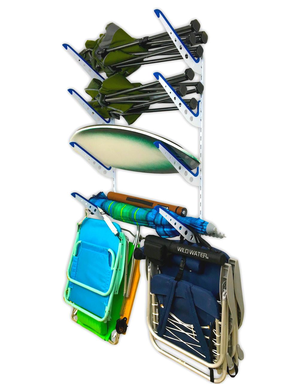 Beach Gear Wall Rack Chairs And Umbrellas Storage