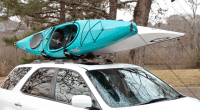 2 Kayak Car Roof Rack | Folds Flat - StoreYourBoard.com