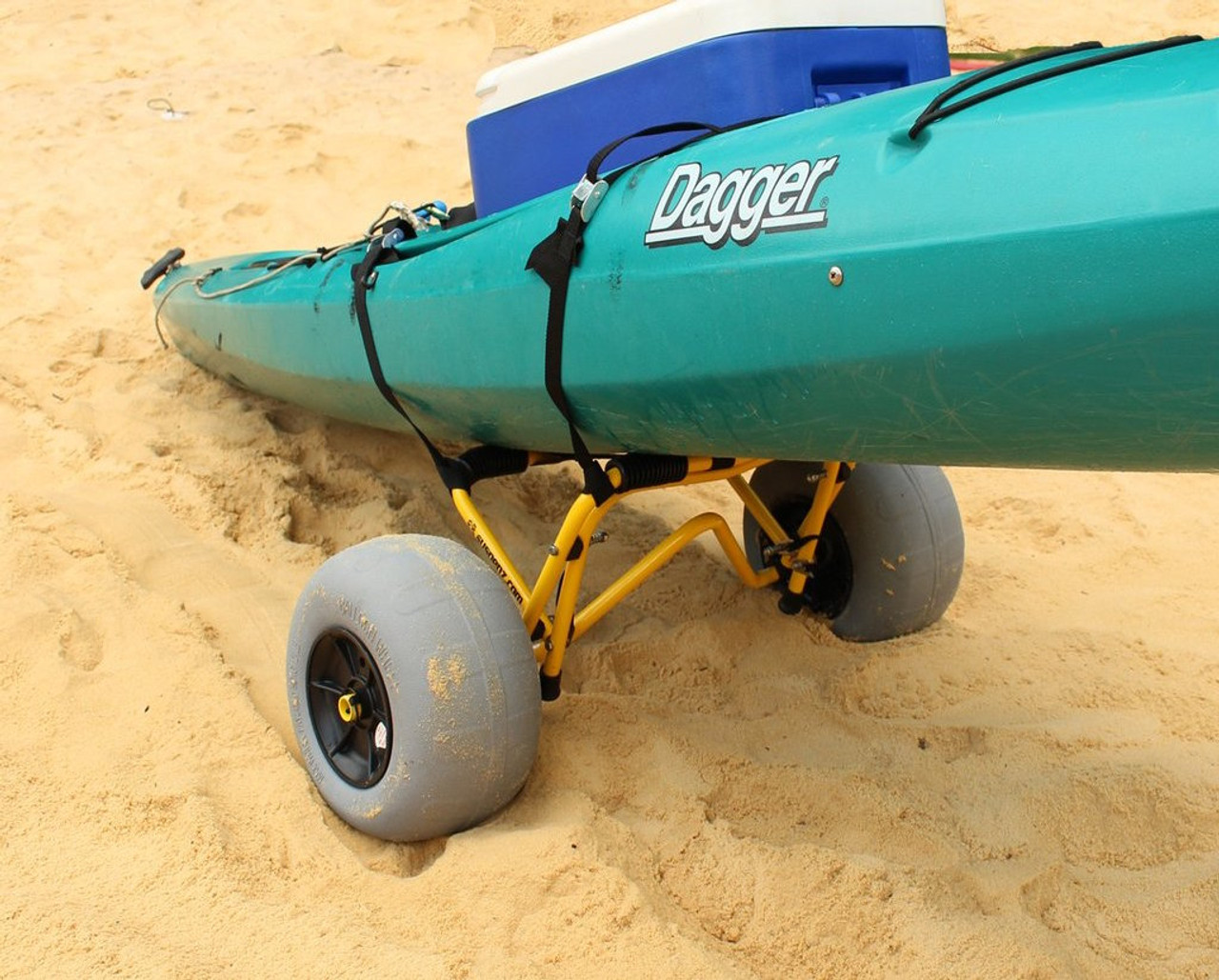 Balloon Wheel Kayak Dolly  Supports Boats Up to 200 Lbs