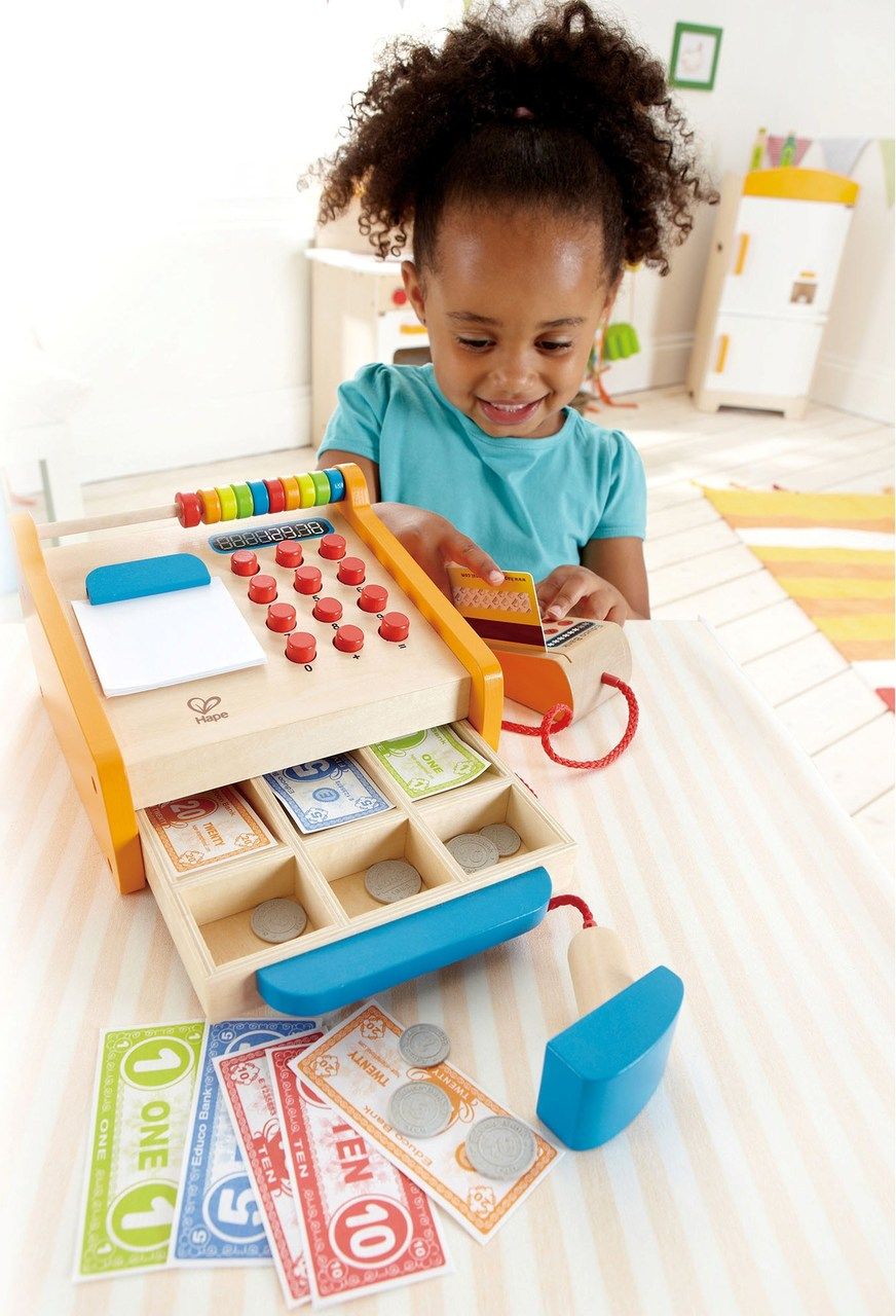 Hape Wooden Toy Cash Register On Sale Australia Wide