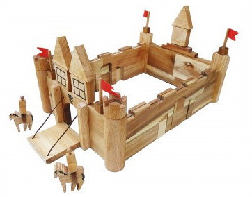Qtoys Wooden Castle Buildling Set On Sale Fast Shipping