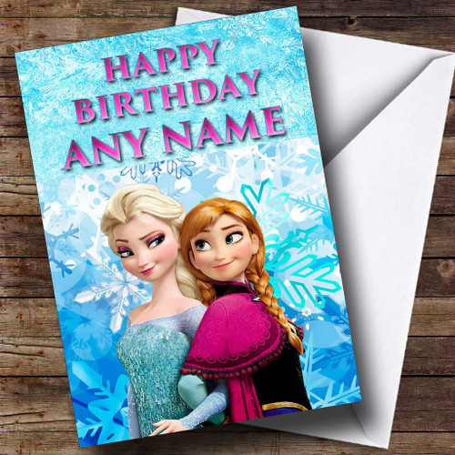 Elsa Frozen Personalised Birthday Card The Card Zoo