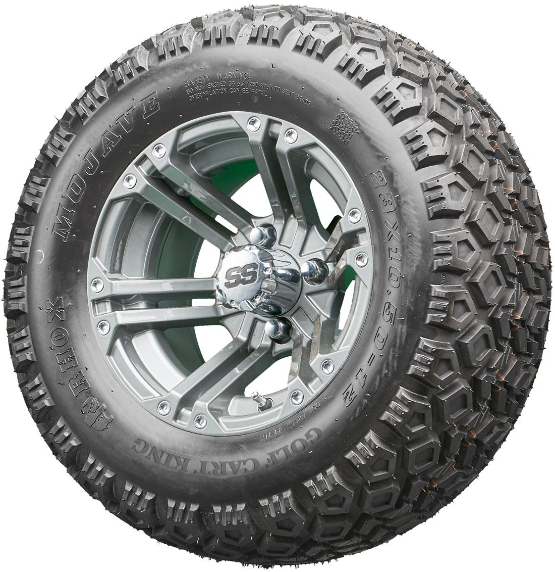 golf cart wheels and tires rhox rx335 gun metal 12 lifted tires combo [ 1100 x 1132 Pixel ]