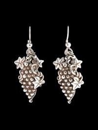 Grape Vine Cluster Earrings Jewelry