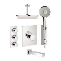 Grohe 123155 GrohTherm F Custom Shower Kit - York Taps
