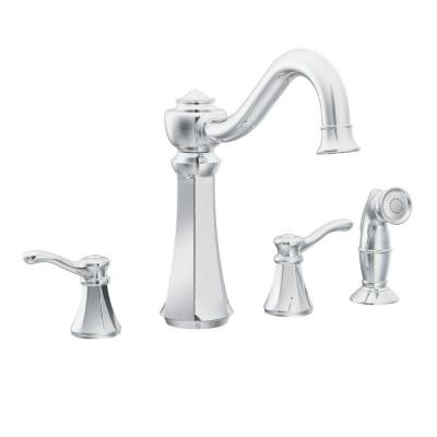 two handle kitchen faucet aid artisan sale moen vestige 2 york taps