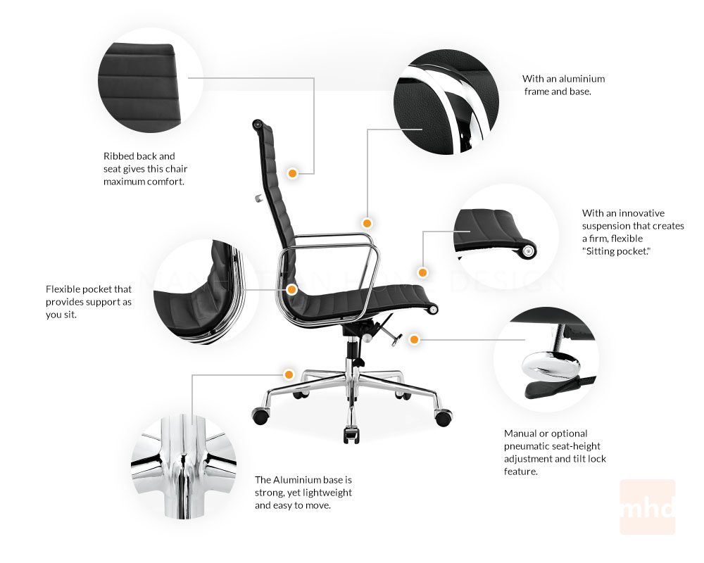 eames aluminum management chair replica steel price in kerala executive - office