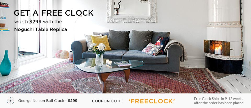 noguchi sofa reproduction scs table tribeca coffee free george nelson ball clock