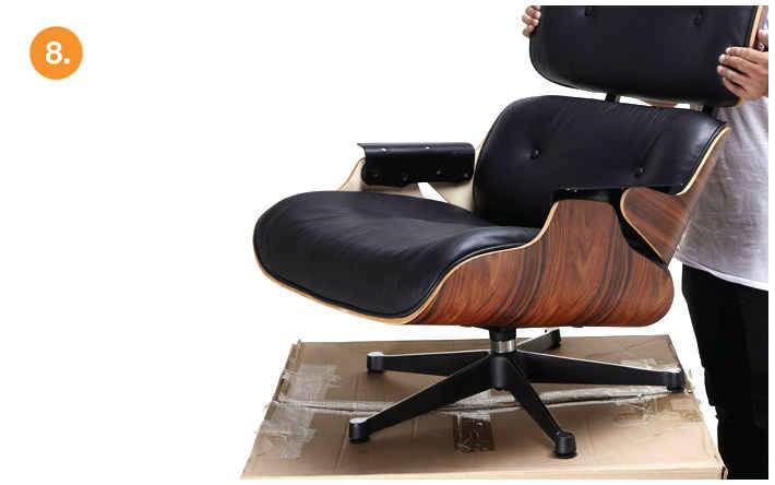 eames chair replica belmont barber parts lounge vitra black manhattan home design