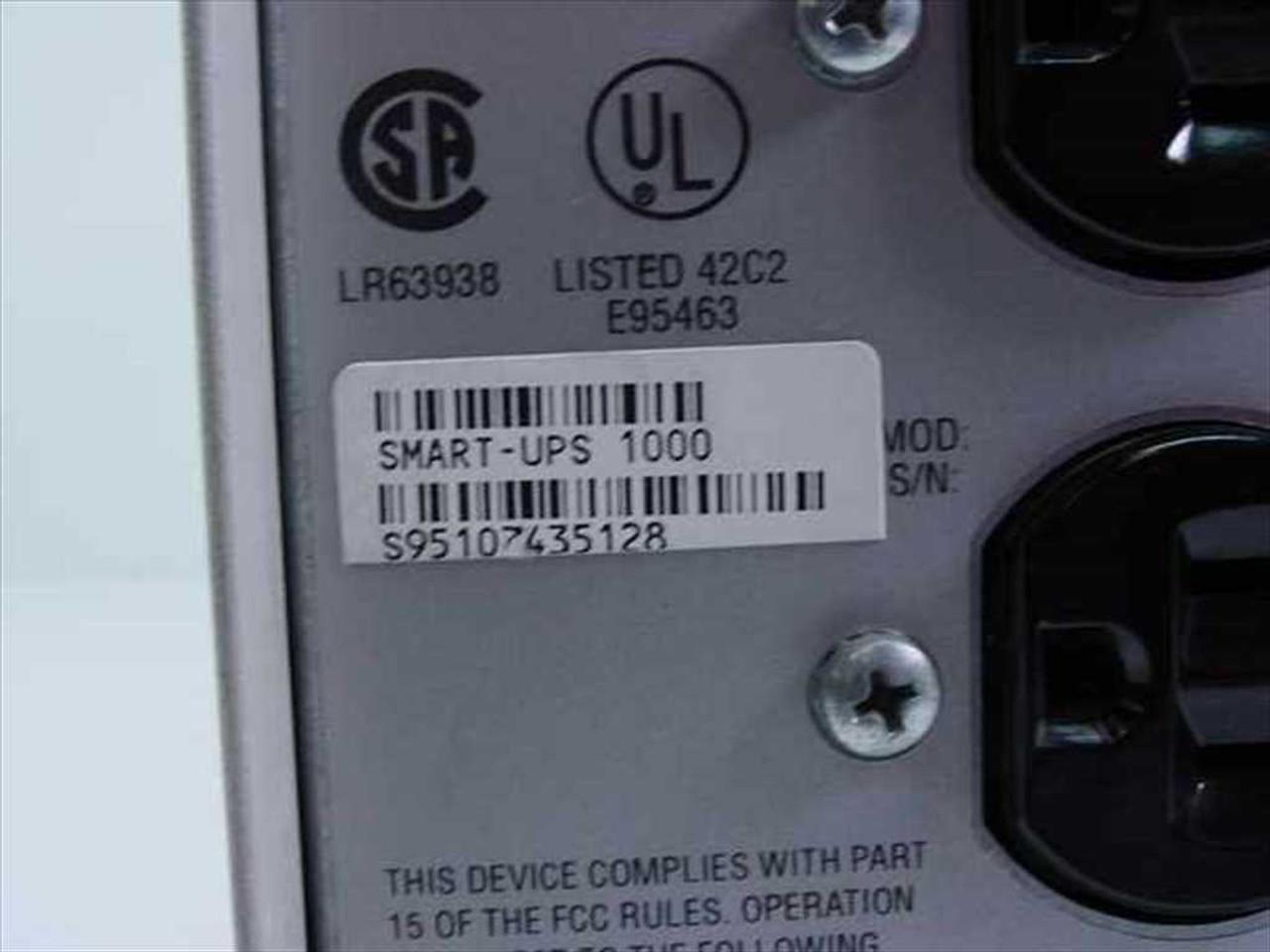 apc su1000net 1000 va smart ups 1000 battery back up apc bp1000 wiring diagram [ 1280 x 960 Pixel ]