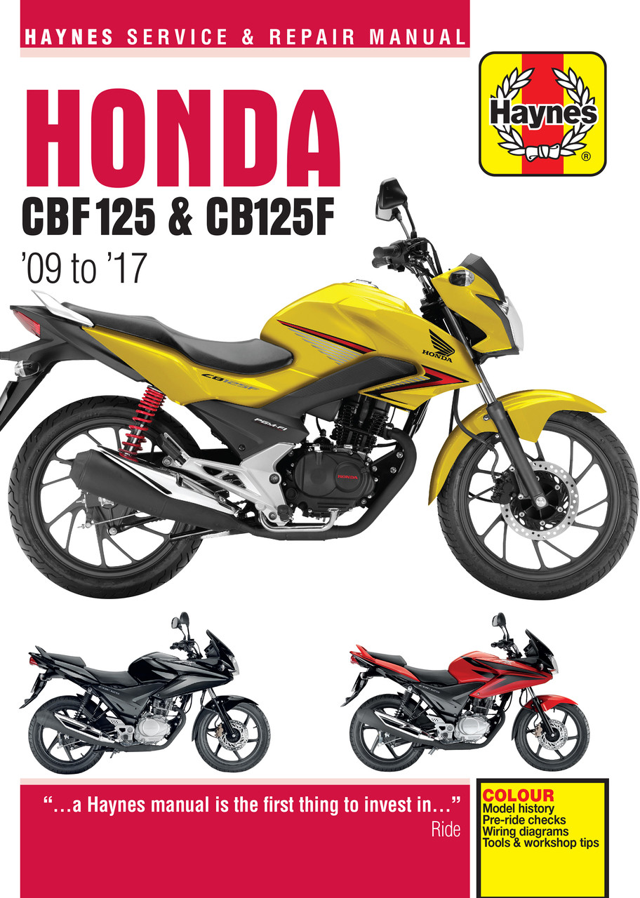 medium resolution of honda cbf125 cb125f 2009 2017 workshop manual