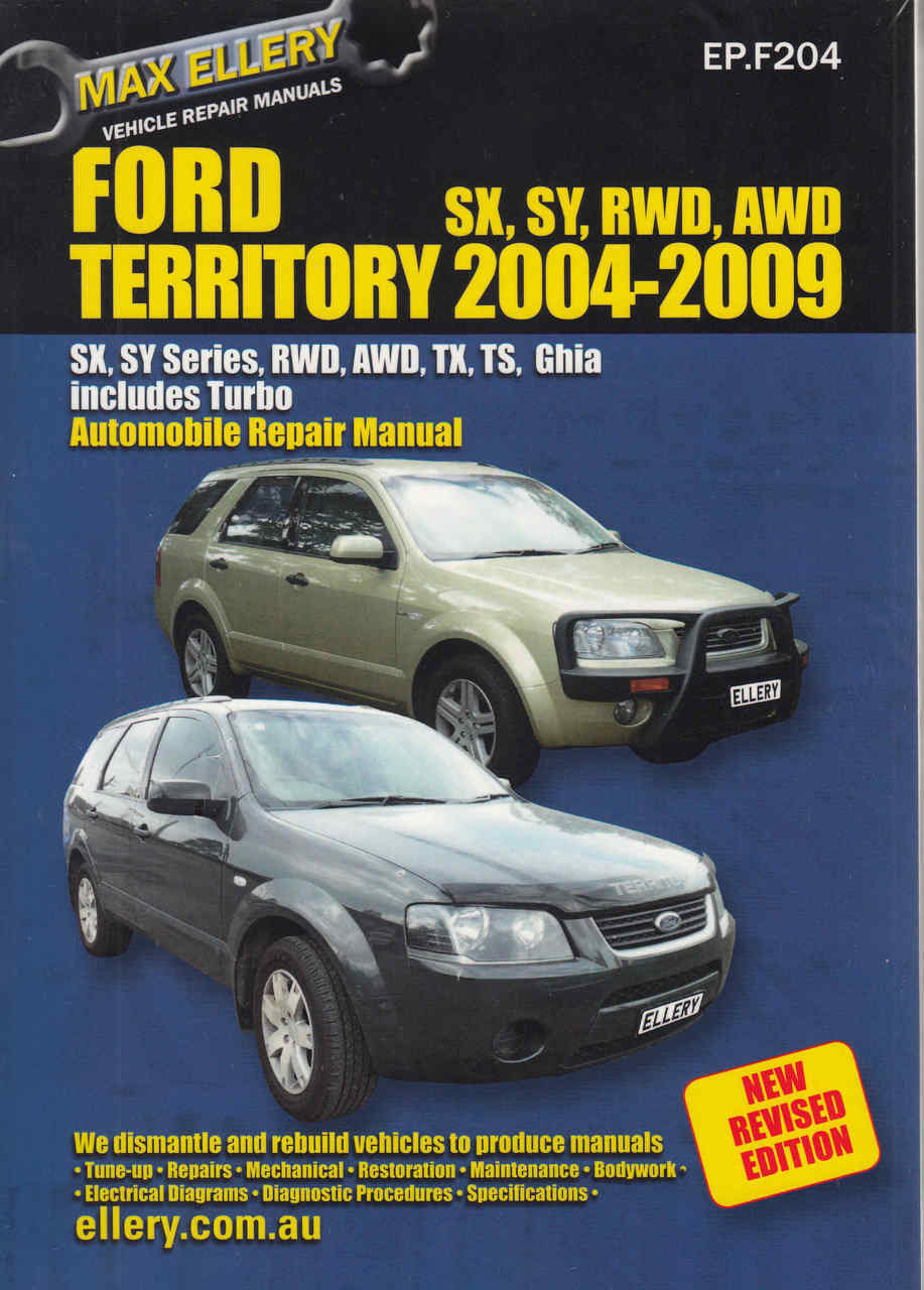hight resolution of ford territory 2004 2007 workshop manual front