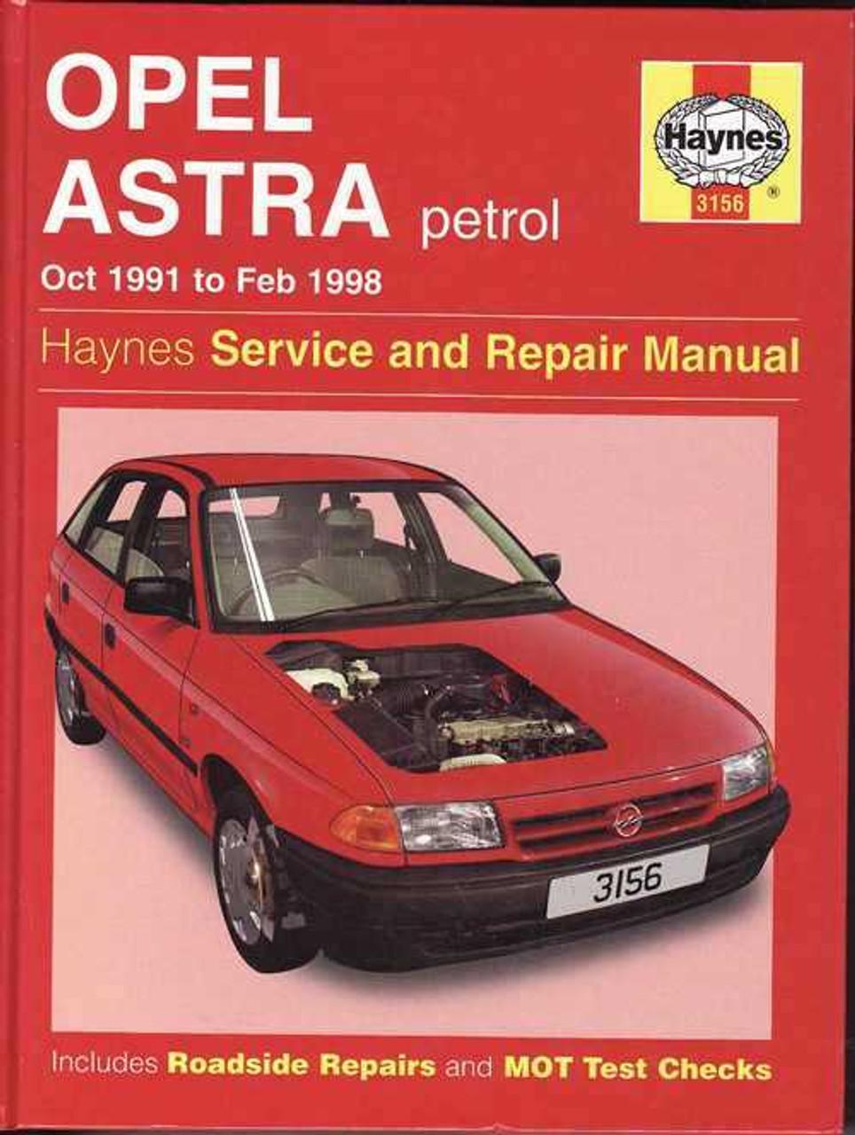 Holden Astra (Opel) Petrol 1991  1998 Workshop Manual
