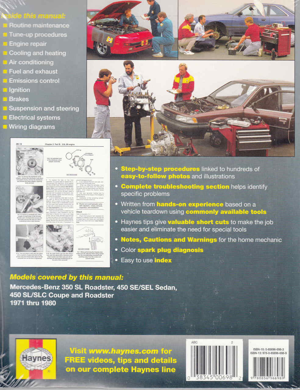 medium resolution of  mercedes benz 350 450 1971 1980 workshop manual