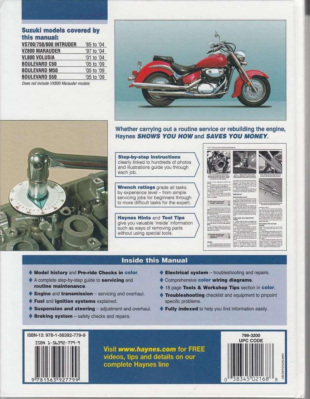 medium resolution of suzuki intruder marauder volusia and boulevard workshop manual back