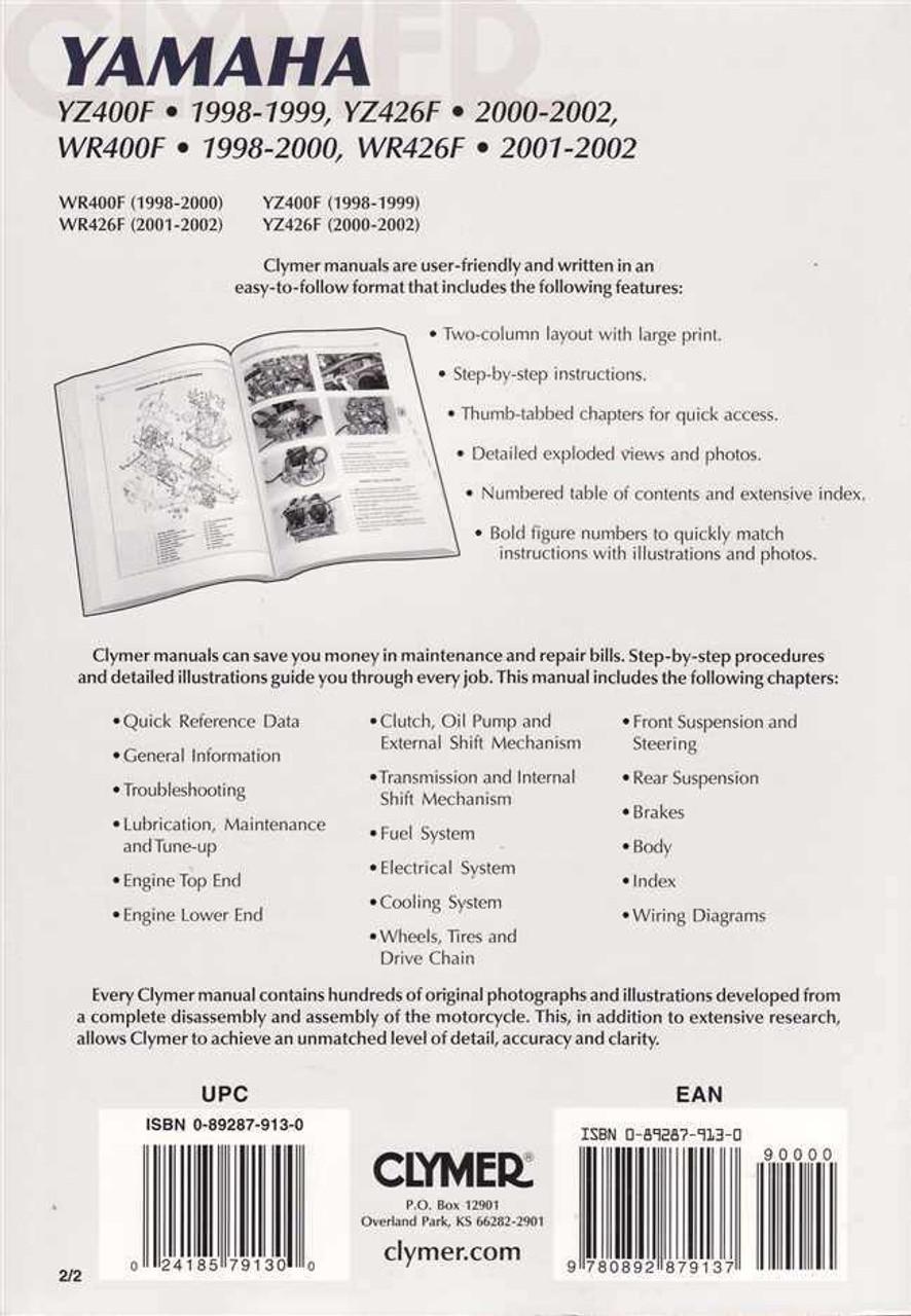 hight resolution of  02 yamaha wr426 service manual on xt350 wiring diagram xvz1300 wiring diagram rt100 wiring