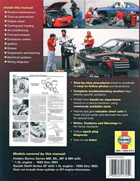 Holden Barina & Suzuki Swift 1985  1993 Workshop Manual