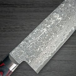 Best Damascus Kitchen Knives Used Cabinets Dallas Tx Chef Yoshimi Kato 63 Layer Vg10 Black Pw