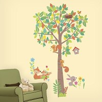 Woodland Fox and Friends Giant Tree Wall Stickers | Roommates