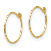 Small Baby Endless Hoop Earrings 14k Gold By Madi K