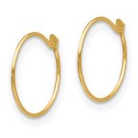 Small Baby Endless Hoop Earrings 14k Gold By Madi K