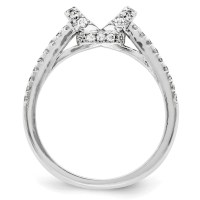 Wedding Set Mounting Ring Band Peg Set 10k White Gold ...